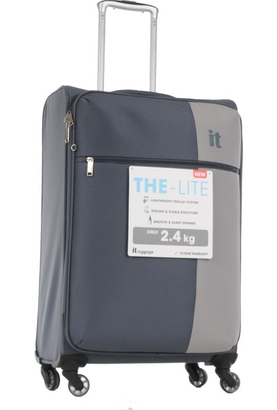 İt Luggage 3'Lü Set Ultra Light Kumaş Valiz Gri 2152