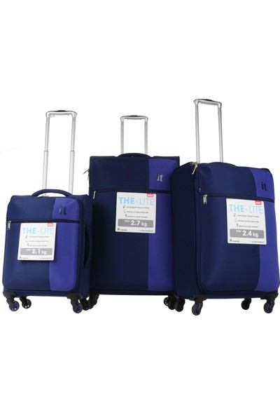 İt Luggage 3'Lü Set Ultra Light Kumaş Valiz Lacivert 2152