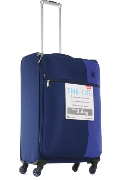 İt Luggage Orta Ve Kabin Boy Kumaş Valiz Seti Lacivert 2152