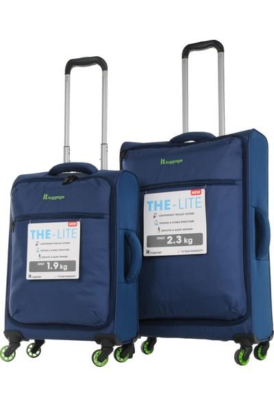 915a84c71e3bf İt Luggage Orta Ve Kabin Boy Kumaş Valiz Seti Mavi 2232 ...