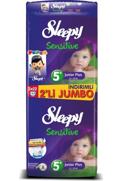 Sleepy Bebek Bezi İkili Jumbo 5 + Beden 44 adet