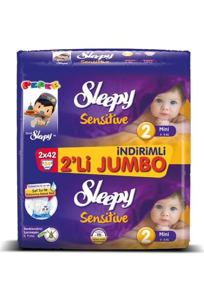 Sleepy Bebek Bezi İkili Jumbo 2 Beden 84 adet