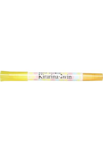 Kirarina Çift Uçlu Fosforlu Kalem - Lemon Yellow