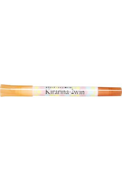 Kirarina Çift Uçlu Fosforlu Kalem - Orange