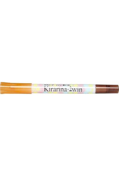 Kirarina Çift Uçlu Fosforlu Kalem - Persimmon