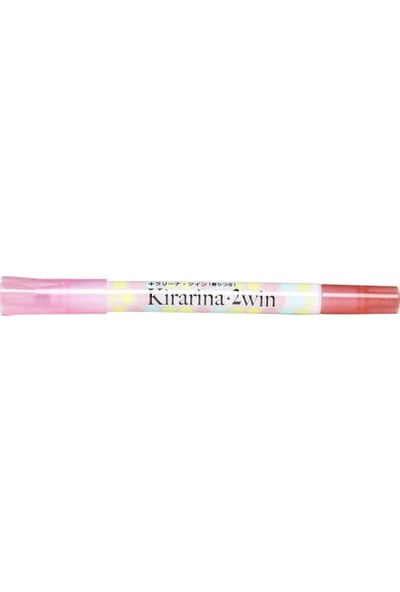 Kirarina Çift Uçlu Fosforlu Kalem - Light Pink