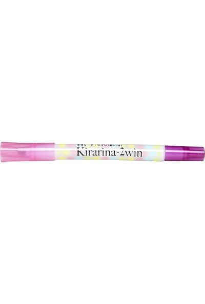 Kirarina Çift Uçlu Fosforlu Kalem - Purple