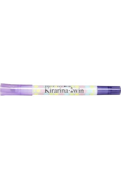 Kirarina Çift Uçlu Fosforlu Kalem - Violet