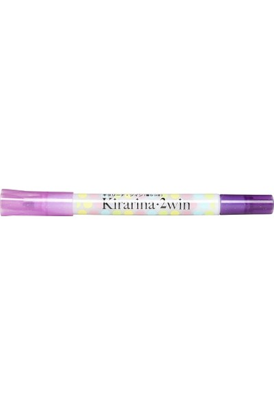 Kirarina Çift Uçlu Fosforlu Kalem - Lavender