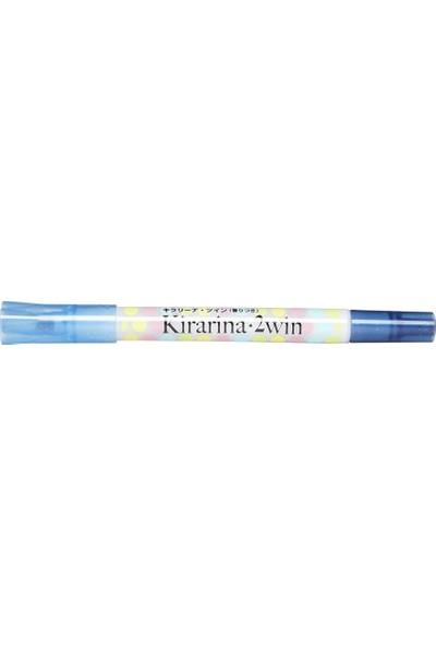 Kirarina Çift Uçlu Fosforlu Kalem - Sky Blue