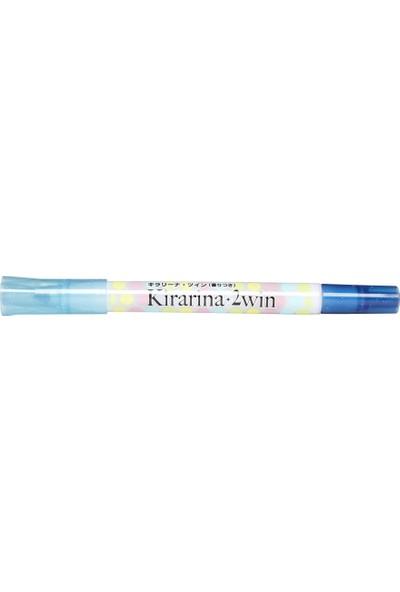 Kirarina Çift Uçlu Fosforlu Kalem- Light Blue