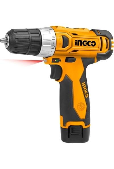 İngco 12 V 1.5 Amper Çift Batarya Akülü Şarjlı Vidalama Cdlı 228120-2