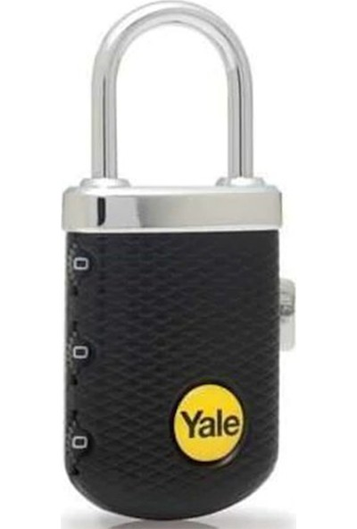 Yale Zarif Tip Şifreli Asma Kilit Siyah Blister