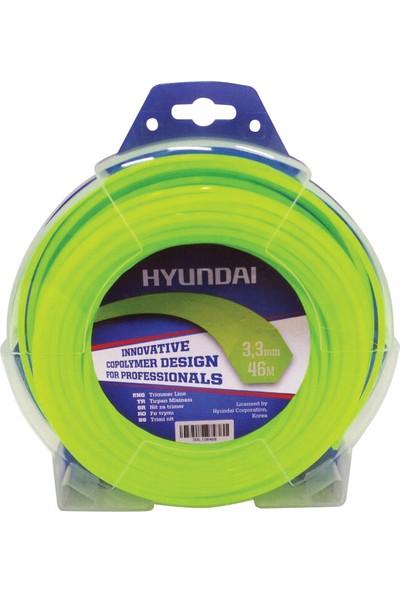 Hyundai 3.00Mm 58 Mt.Altı Köşe Sarı Tırpan Misinası Ot Çim Kesme İpi