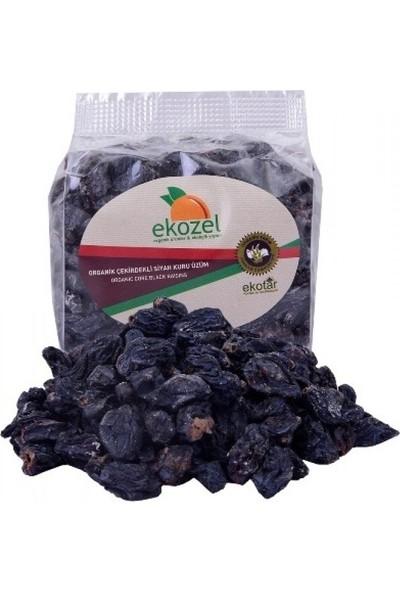 Ekozel Organik Çekirdekli Siyah Üzüm Kurusu 250 gr