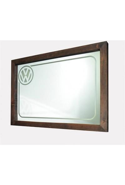 Oldieshead Volkswagen Mavi Ledli Dekoratif Ayna