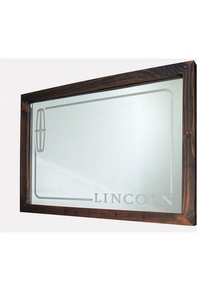 Oldieshead Lincoln Beyaz Ledli Dekoratif Ayna