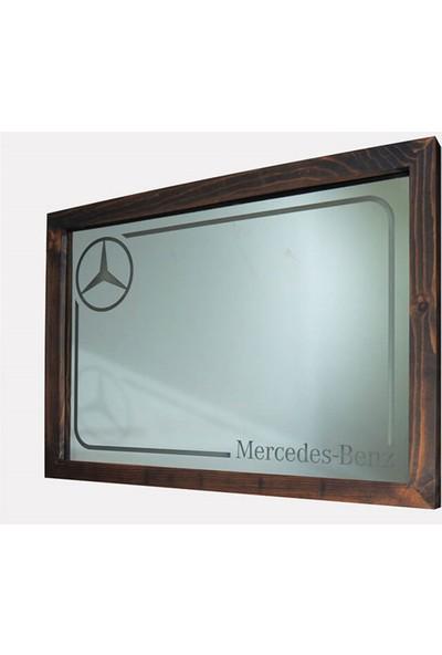 Oldieshead Mercedes Beyaz Ledli Dekoratif Ayna