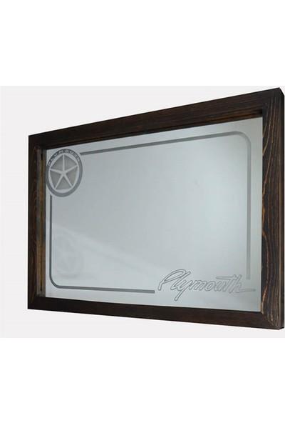 Oldieshead Plymouth Beyaz Ledli Dekoratif Ayna