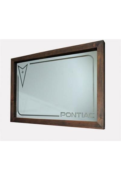 Oldieshead Pontiac Kırmızı Ledli Dekoratif Ayna