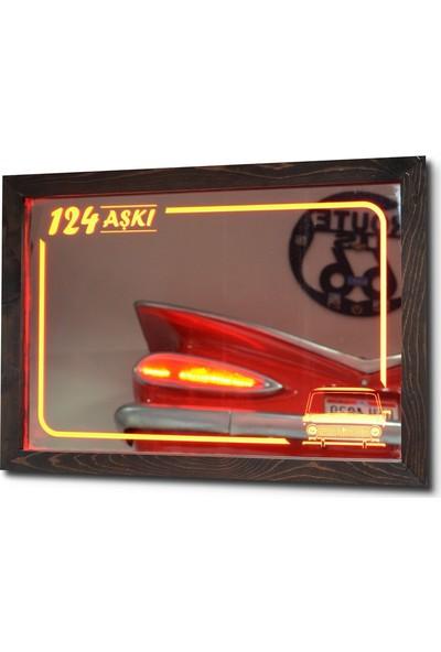 Oldieshead 124 Aşkı Kırmızı Ledli Dekoratif Ayna