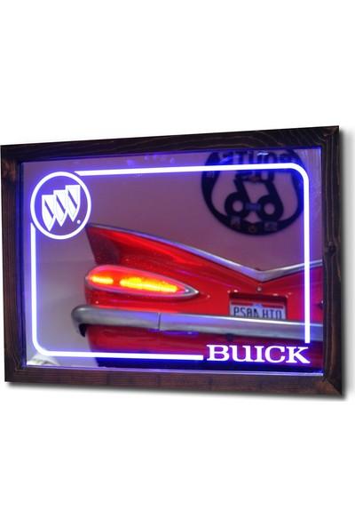 Oldieshead Buick Mavi Ledli Dekoratif Ayna