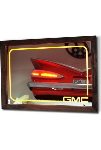 Oldieshead GMC Sarı Ledli Dekoratif Ayna