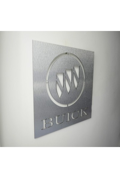 Oldieshead Buick Logolu Satin Finish Alüminyum Kompozit Dekoratif Duvar Pano