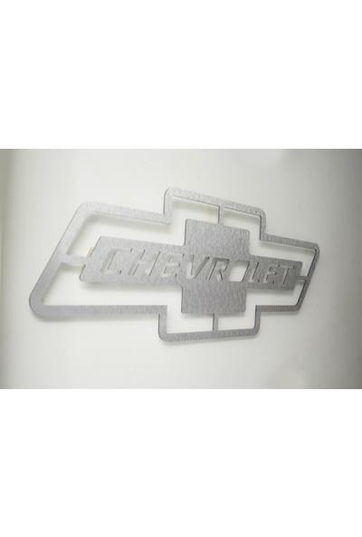Oldieshead Chevrolet Logolu Satin Finish Alüminyum Kompozit Dekoratif Duvar Pano