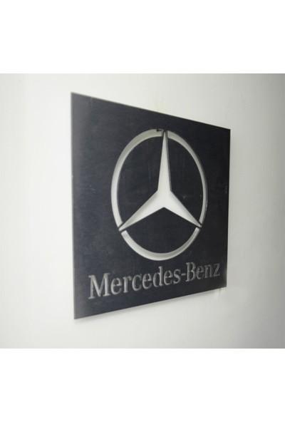 Oldieshead Mercedes Logolu Satin Finish Alüminyum Kompozit Dekoratif Duvar Pano