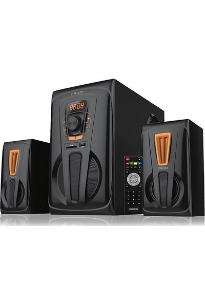 Mikado Md-627Bt 2+1 40W Rms Siyah Usb+Sd+Fm Destekli Multimedia Bluetooth Speaker