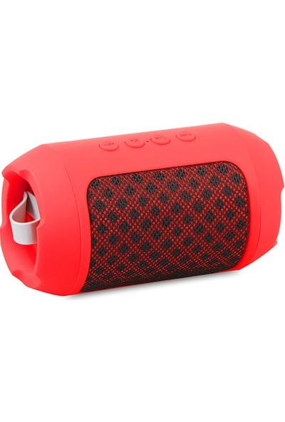 Mikado Md-Bt16 Dynamic Kırmızı 3W Tf/Aux/Fm Destekli Bluetooth Speaker