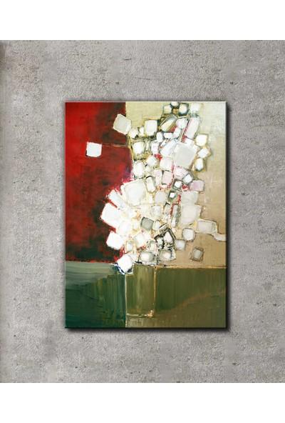 Dekomuz Vazodaki Renkli Çiçek Kanvas Tablo