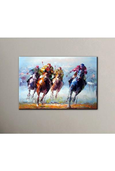 Dekomuz Yarışan Atlar Kanvas Tablo