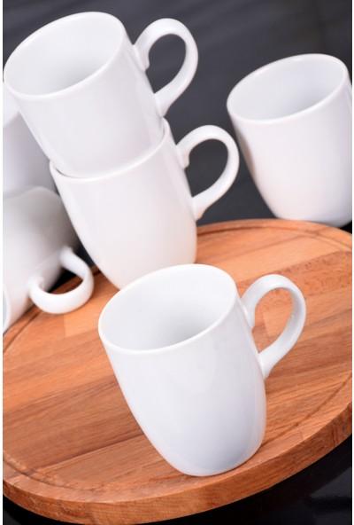 Keramika Beyaz Bulut Kupa 9 Cm 6 Adet