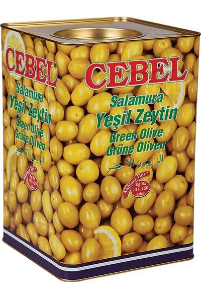 Cebel Yeşil Zeytin Kokteyl 10 kg Teneke