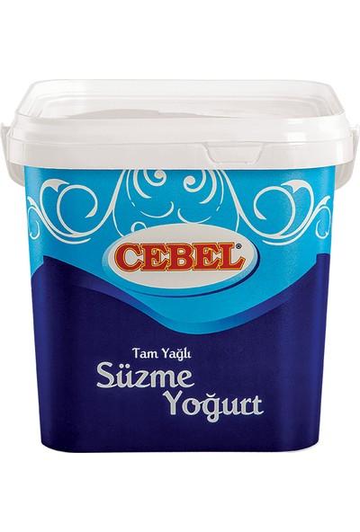 Cebel Tam Yağlı Süzme Yoğurt 5 kg Kova