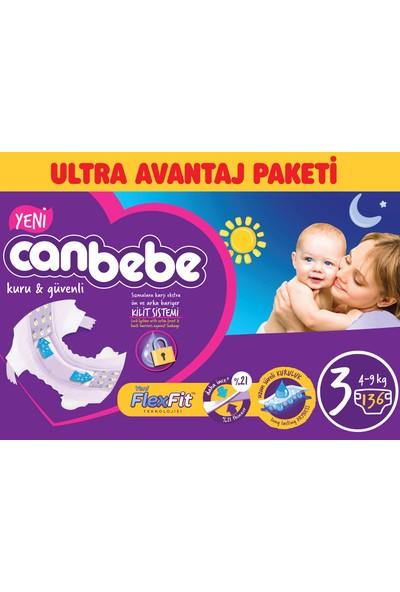 Canbebe Bebek Bezi Ultra Avantaj Paketi 3 Beden 136' lı