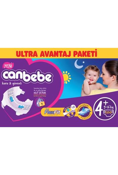 Canbebe Bebek Bezi Ultra Avantaj Paketi 4+ Beden 100' lü