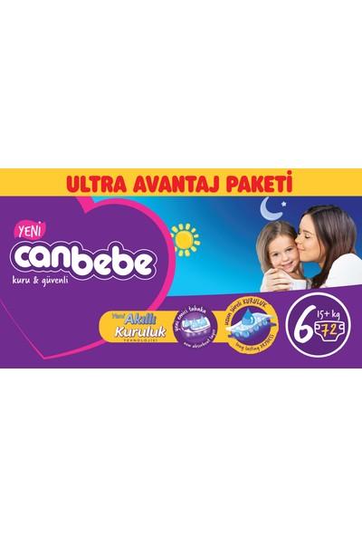 Canbebe Bebek Bezi Ultra Avantaj Paketi 6 Beden 72' li