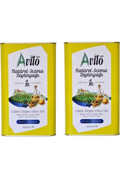 Avilo Soğuk Sıkım Natürel Sızma Zeytinyağı 2 x 3 lt + Zeytin Yaprağı Çayı
