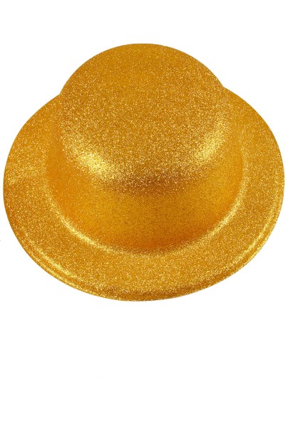 Kullan At Market Yılbaşı Simli Plastik Şapka Altın