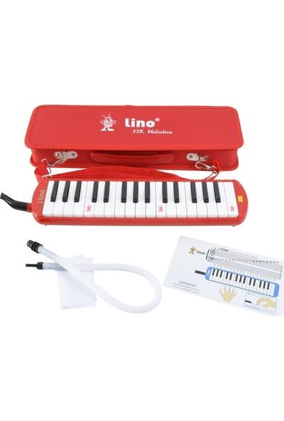 Lino Melodika 32K Tuşlu Çantalı Kırmızı