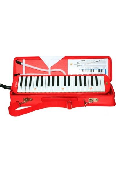 Lino Melodika 37 Tuşlu Çantalı Kırmızı