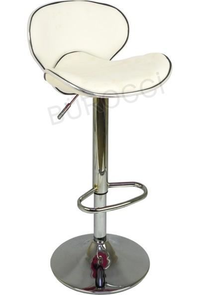 Boombar Goa Bar Sandalyesi - Beyaz Deri - 9545S0109