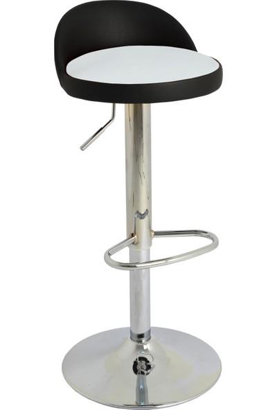 Boombar Jack Bar Sandalyesi - Beyaz Deri - 9560S0109