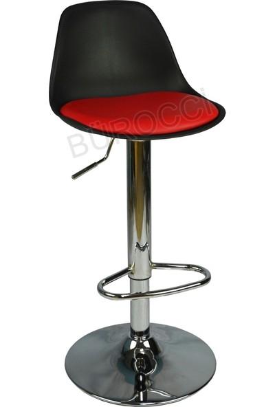 Boombar Nadya Bar Sandalyesi - Kırmızı Deri - 9537S0116