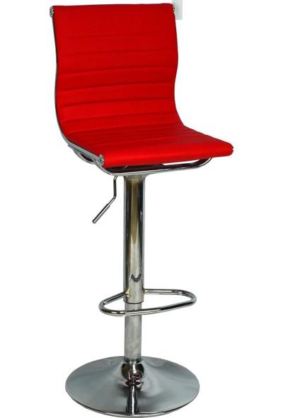 Boombar Victoria Bar Sandalyesi - Kırmızı Deri - 9516S0116