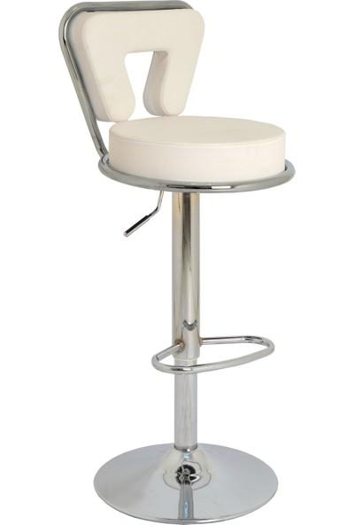 Boombar Virago Bar Sandalyesi - Beyaz Deri - 9540S0109
