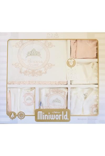 Miniworld Kız Bebek Prenses 10'lu Hastane Çıkışı Seti Doğal Antialerjik